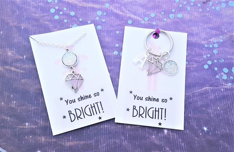 Gem Charm Necklace You Shine So Bright Diamond image 0