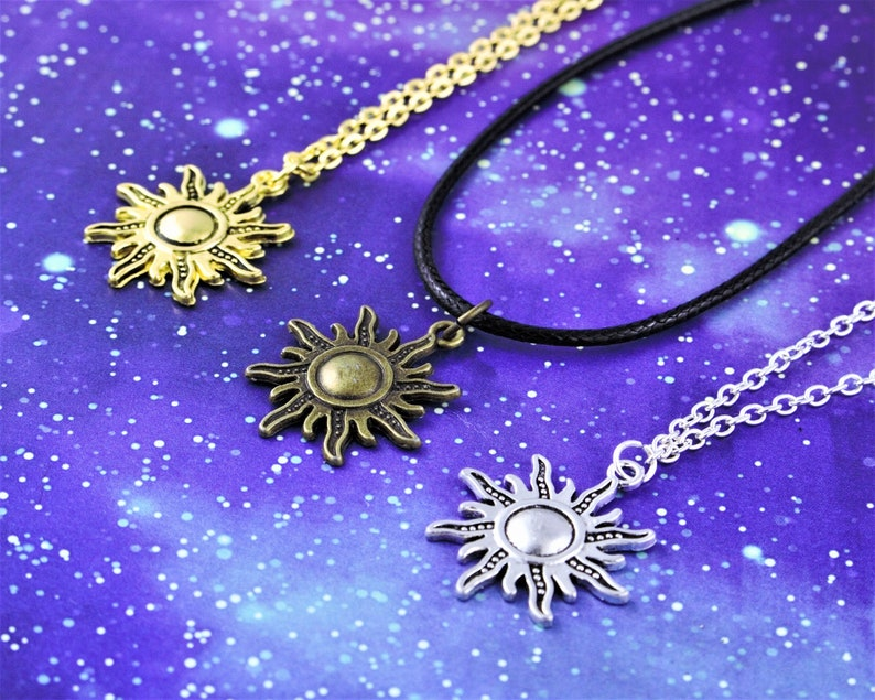 Sun Necklace Sunshine Jewellery Happy Gift Happiness image 0