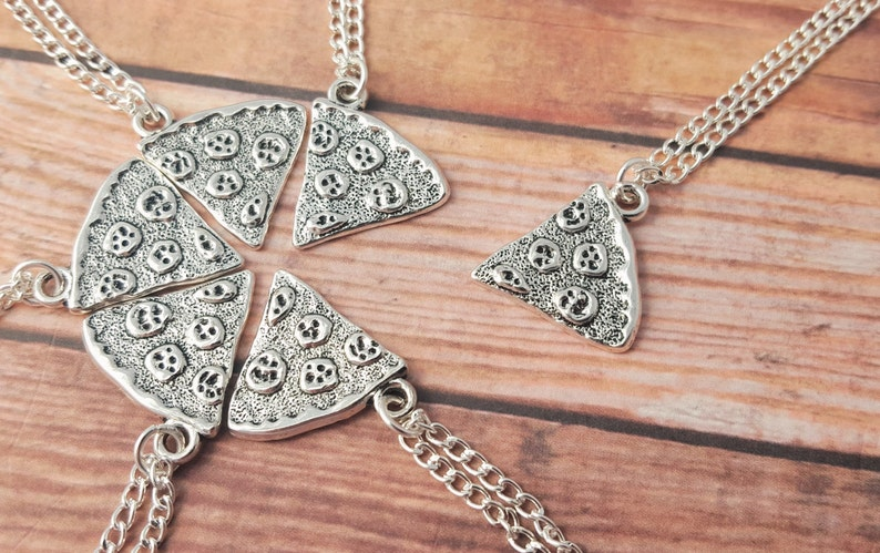 Pizza Necklace One Slice Pizza Friendship Necklace Best image 0