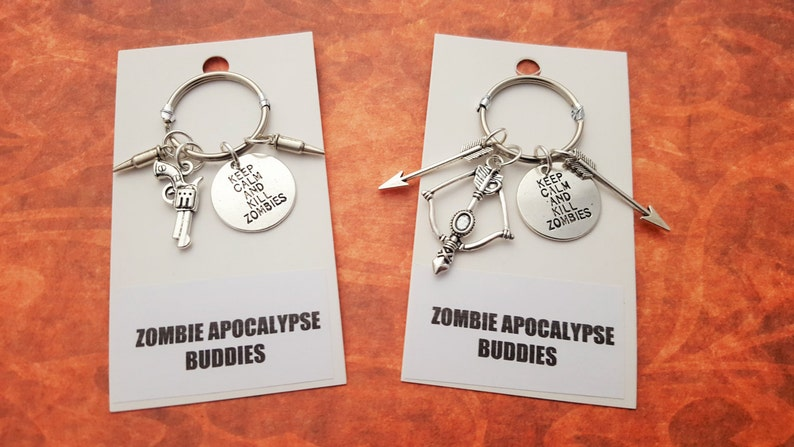 Zombie Keyrings Friendship Keychains Gifts For Couples image 0