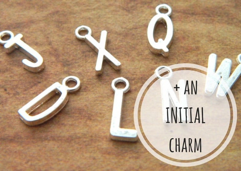 Add An Initial Charm Purchase Add On Necklace Add On image 0