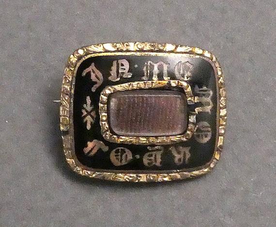10K Gold Memorial Brooch-as is