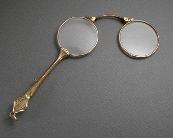 Gold filled lorgnette c 1900