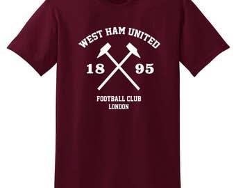 West Ham Utd London T Shirt Football Soccer 39b1bdaa4