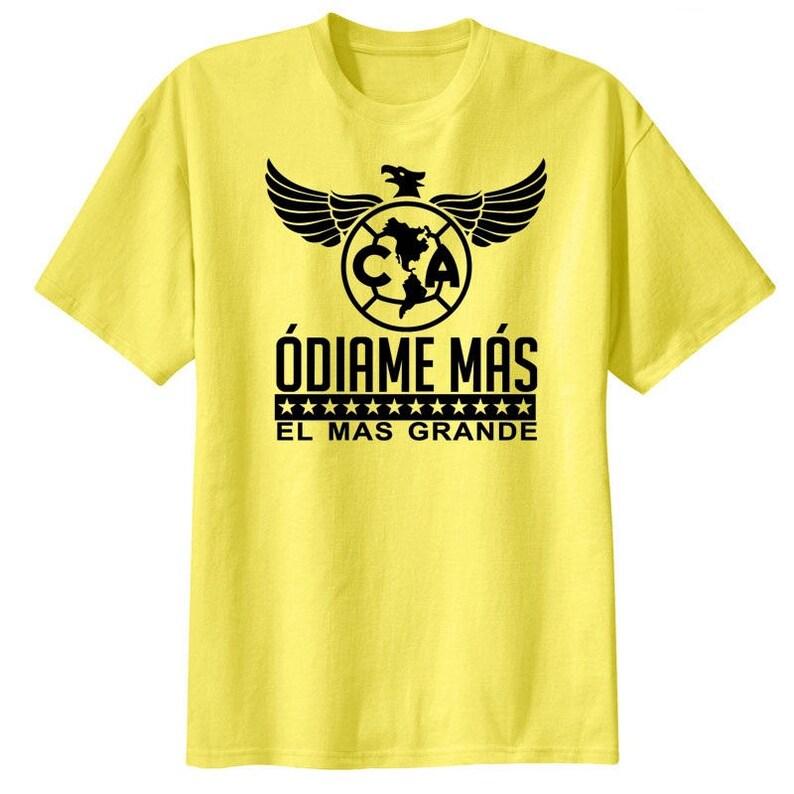 b665ee94c1e Club America Mexico Aguilas T Shirt Playera Odiame Mas | Etsy