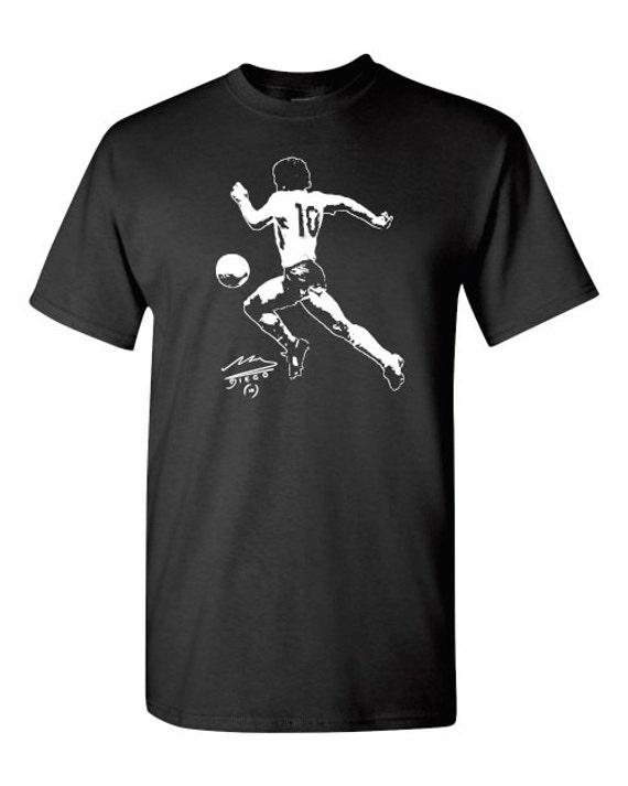 Diego Maradona Tee T Shirt World Cup 1986 Argentina Remera Camiseta 3bc268a063b06
