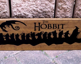 Lord Of The Rings Sign, LOTR, The Hobbit,  Fellowship, Home Theater, Movie Quote, Wood Sign