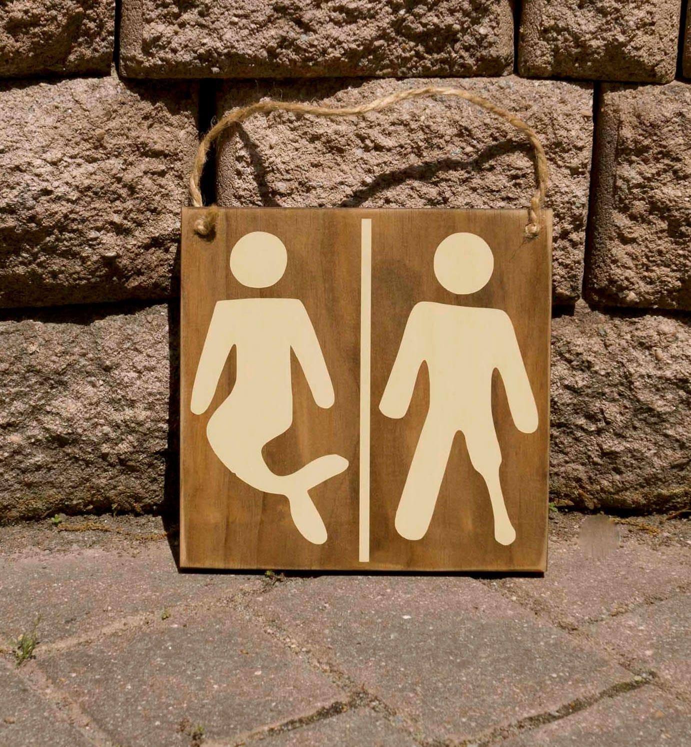 Nautical Bathroom Decor On Sale: Nautical Sign Bathroom Sign Restroom Sign Pirate Sign