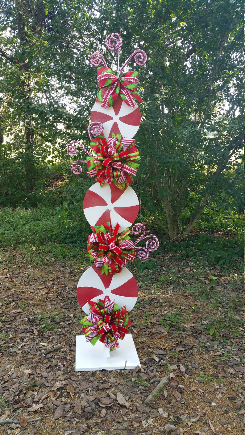 Peppermint Stand Tutorial Candy Cane Tutorial Decor image 0