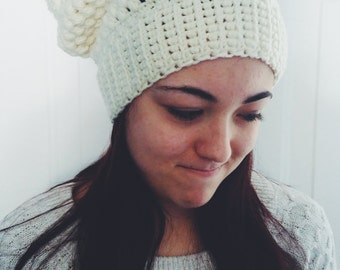 Cream Puff Stitch Beanie