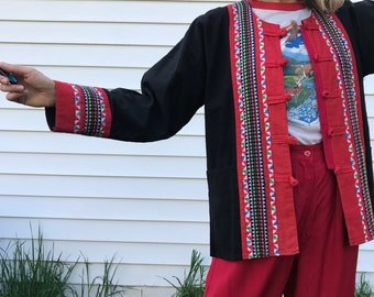 Vintage Thailand Cotton Jacket with Pockets from