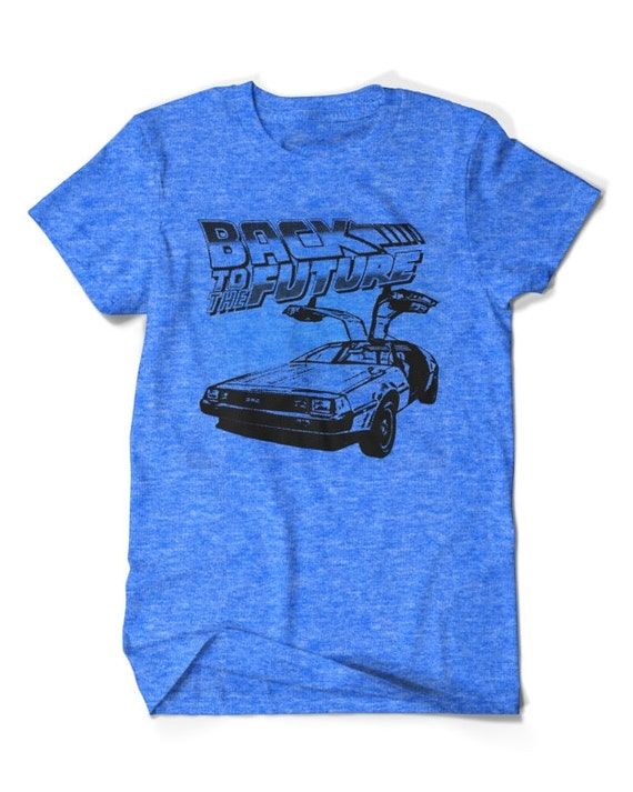 Back To The Future Blue T-shirt Adults