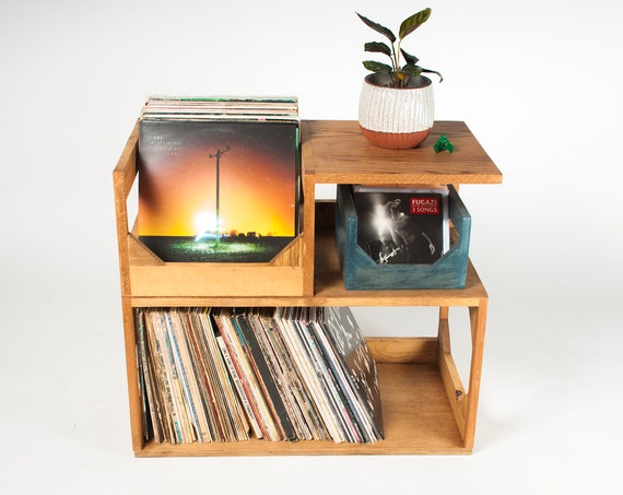 """Vinyl Record Storage End Table! // Creative Storage For Your Collection // Holds 150+ 12"""" Vinyl Records"""