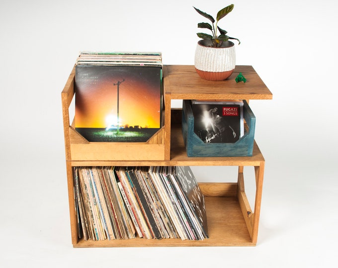 Functional Furniture: The Vinyl Storage End Table