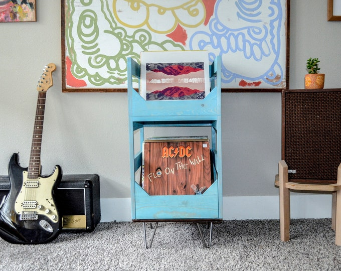 Slide Into a Better Vinyl Experience: Vinyl Record Storage with Soft Close drawers. Show off your art with easy access