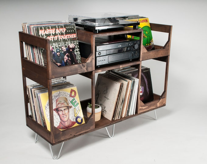 In The Groove: Vinyl Storage And Record Player Stand