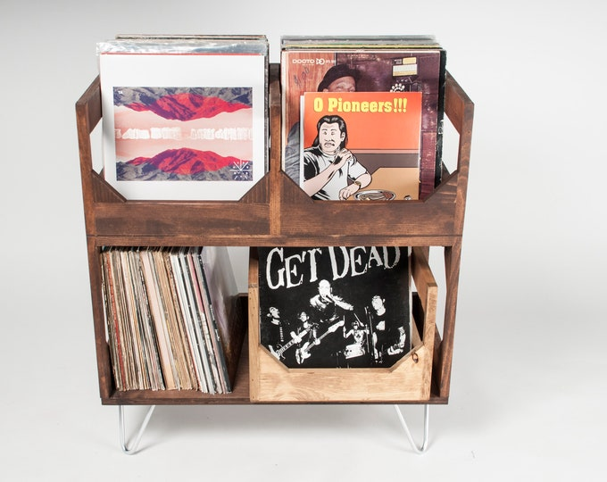 Elevate Your Space: Deluxe Vinyl Record Storage