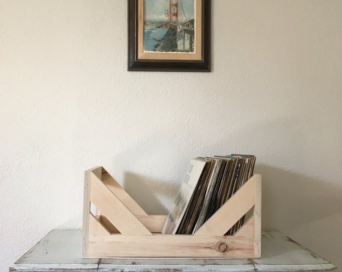 """The Unstained """"OG"""" 12"""" Vinyl Record Storage and Display // Stash Your Wax In style // Ditch the Milk Crates"""