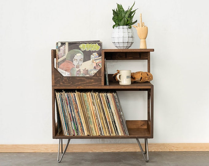 The Vinyl Storage End Table