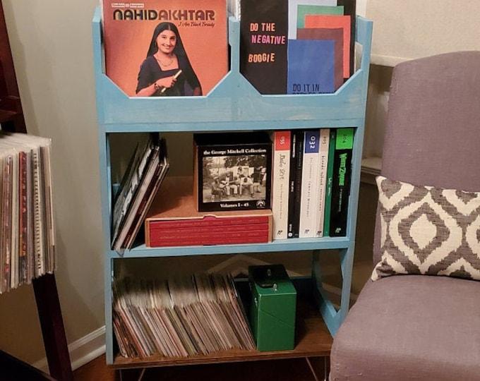 A Fan Favorite: The Deluxe Sr. Vinyl Record Storage On Hairpin Legs