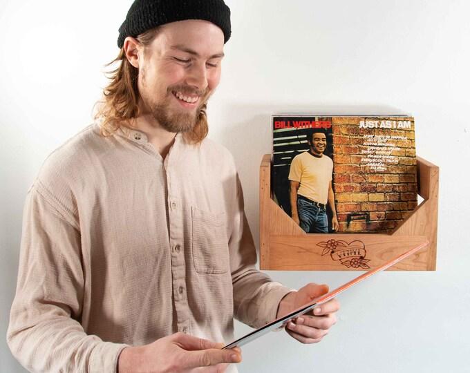 Floating Vinyl Record Storage