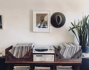 "12"" Vinyl Record Storage - A stylish Alternative to milk Crates!"