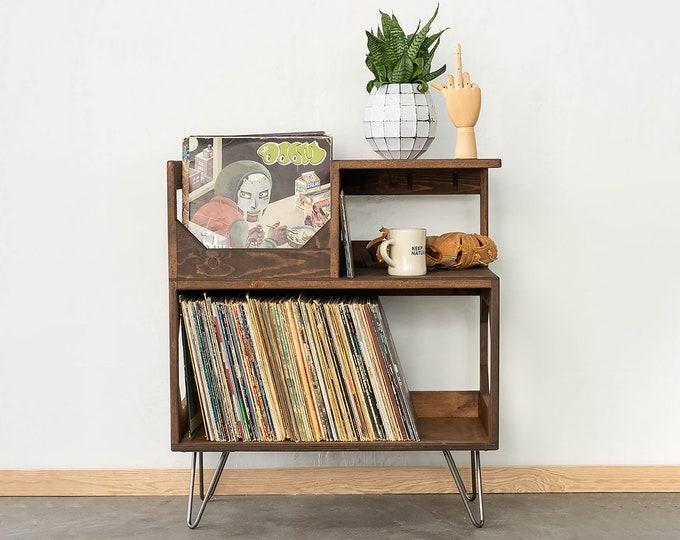 The Vinyl Storage End Table
