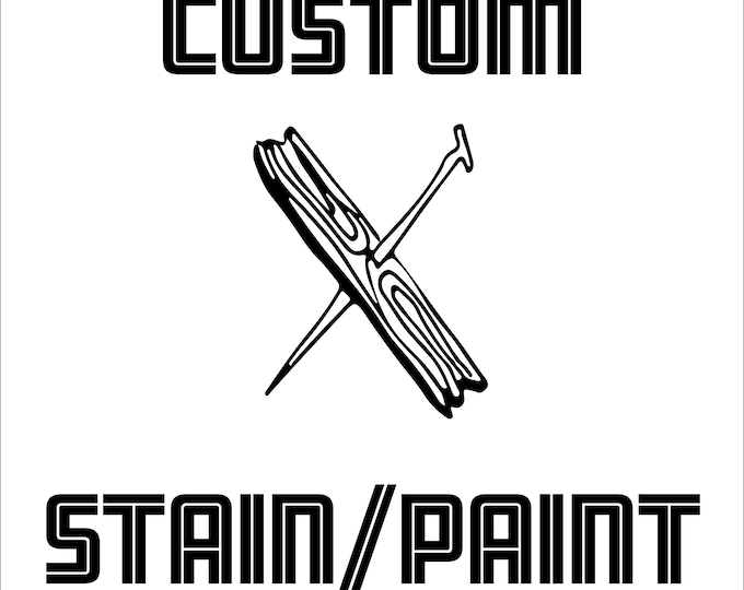 Custom stain and paint color