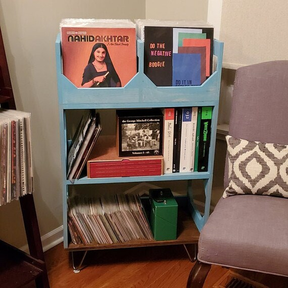 Deluxe Sr. Vinyl Record Storage with Hairpin Legs // Stylish // Convenient // Efficient // Displays Up To 360 Records: