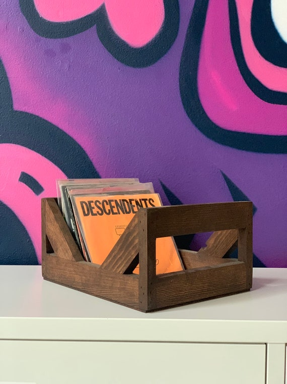 """45 rpm/7inch Record Storage Crate // No more empty 12 pack boxes! Finally a proper way to store your 7"""" and 45's"""