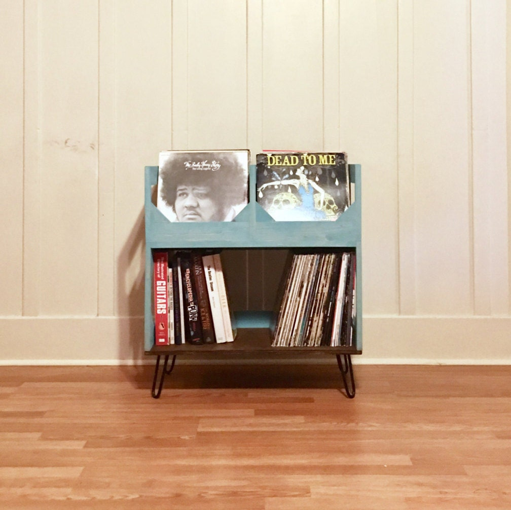 Deluxe Vinyl Record Storage On 6 Hairpin Legs // Displays And Protects Your  Collection Of Over 200 12 Vinyl Records