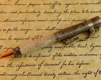 Sale *** Lever Action Ballpoint with Deer Antler - Free Shipping #BP00337