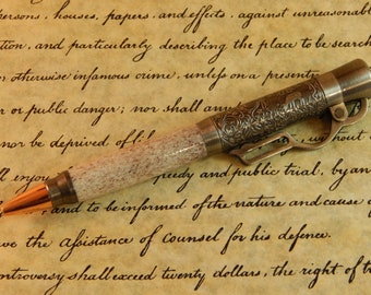 Lever Action Ballpoint with Deer Antler - Free Shipping #BP00337