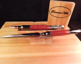 Sale *** Bolt Action .30 Caliber Ballpoint and Letter Opener with Padauk #GS007