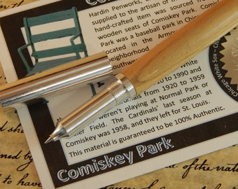 RAW 6061-T6 Aluminum Rollerball Pen with Comiskey Park Wood - Free Shipping #STW215