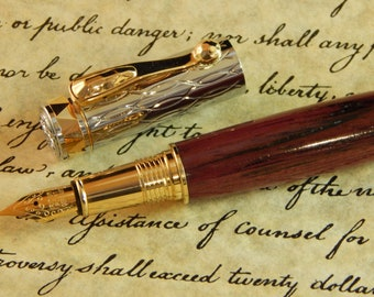 Electra Fountain Pen with Purpleheart Wood - Free Shipping #FP10273