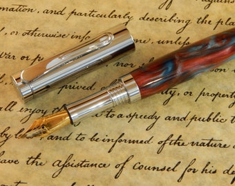Presidential Fountain Pen with Misque Sakigon Acrylic - Free Shipping #FP10205