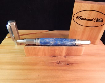 Vertex Rollerball Pen with Blue Ice Acrylic #RBEX01
