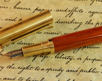 RAW C3604 Brass Fountain Pen with Padauk - Free Shipping #FP10293