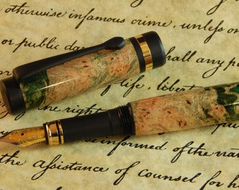 Classic Fountain Pen with Dyed Maple - Free Shipping #FP10242