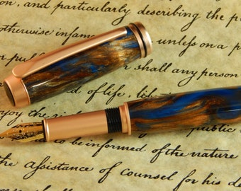 Baron Fountain Pen with Kings Ransom Acrylic - Free Shipping #FP10153