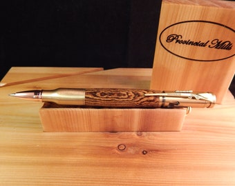 Bolt Action .30 Mechanical Pencil with Bocote Wood #PC058