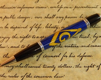 Gatsby Ballpoint with Masonic Symbol - Free Shipping #BP00201