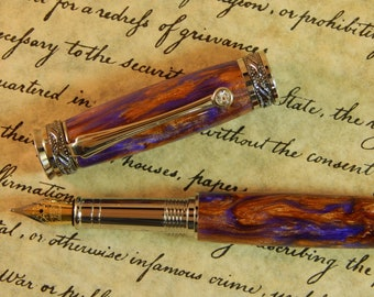 Majestic Jr. Fountain Pen with Valhalla Acrylic - Free Shipping #FP10132