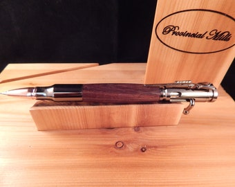 Bolt Action .30 Mechanical Pencil with East Indian Rosewood #PC063