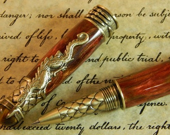 Dragon Rollerball Pen with Red Desert Acrylic - Free Shipping #RB3113