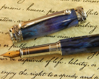 Majestic Jr. Fountain Pen with Odyssey Acrylic - Free Shipping #FP10136