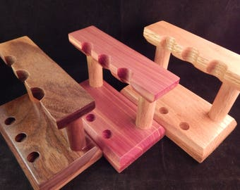 3 - Pen Leaning Stand with Walnut, Cedar, or Oak
