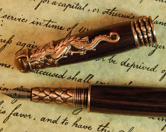 Dragon Fountain Pen with Kingwood - Free Shipping #FP10179