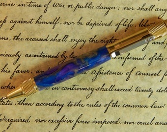 Clip Action Ballpoint Pen with Magical Waters Acrylic - Free Shipping #BP00221